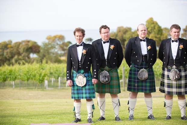 Waiting for the bride - Scottish wedding on the Bellarine Peninsula