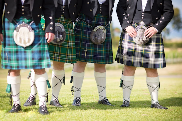 Scottish Kilts - at a wedding