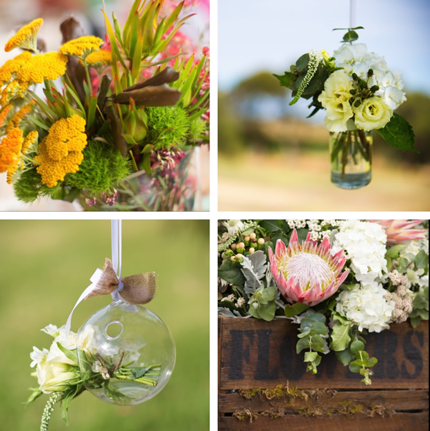 Wedding flowers - Vintage and rustic style