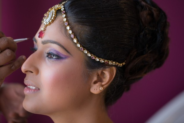 Bride getting ready - Indian Wedding - Photography