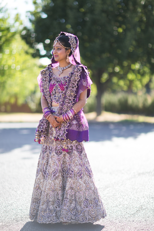 beautiful indian bride in amazing hand made dress