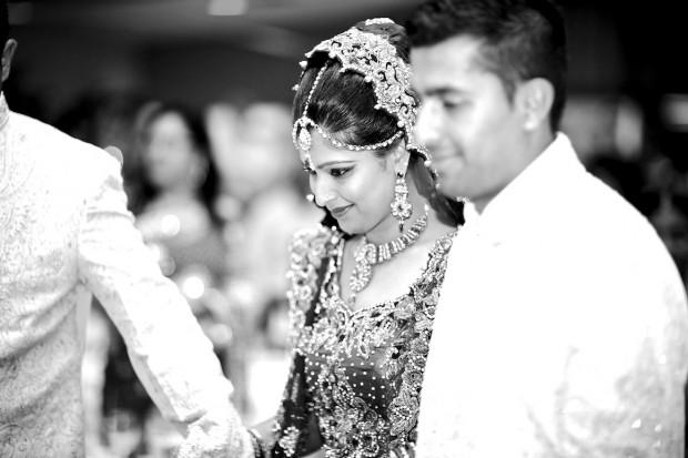 Bride meets groom