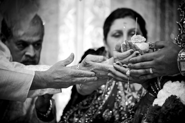 traditional hands ceremony at indian wedding