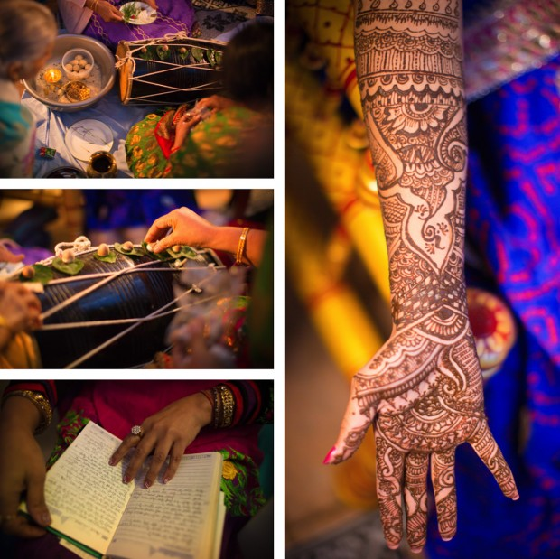 Henna painting at Indian Wedding in Melbourne