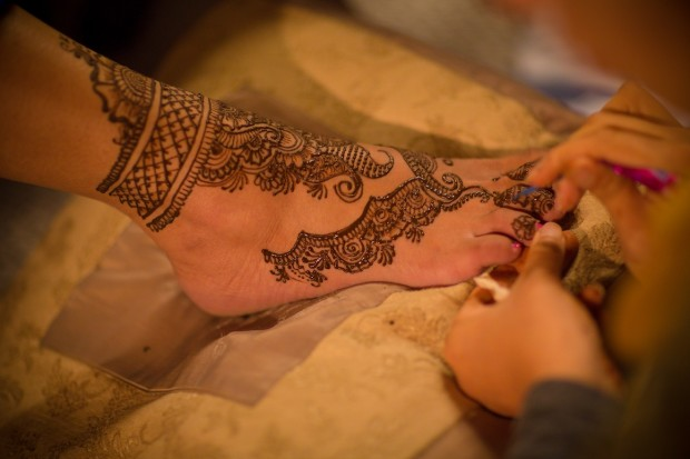 Henna Feet Painting