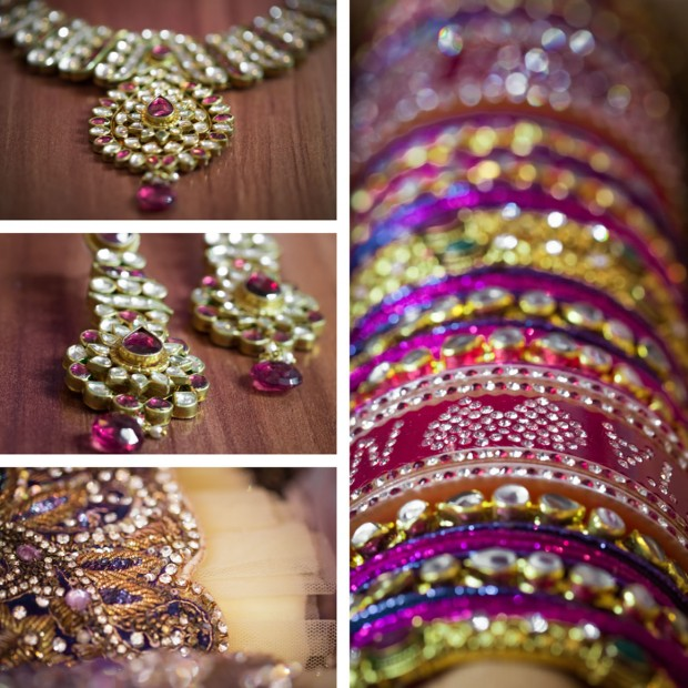 Indian Wedding - Dress details and jewellery