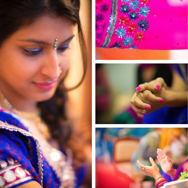wedding collage - henna night - indian wedding photography