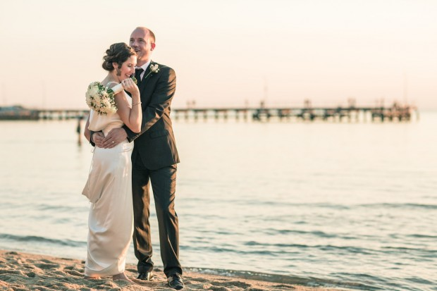 beautiful melbourne wedding couple