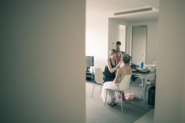 bridal room - bride getting ready - melbourne wedding photography package